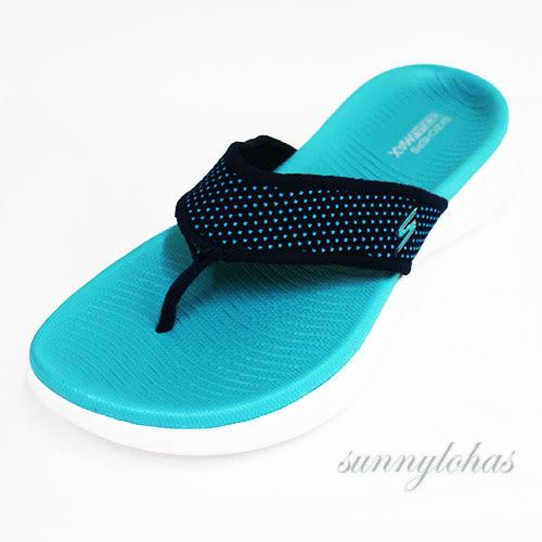 6折 SKECHERS (女) 時尚休閒系列 ON THE GO 600 夾腳拖鞋-15300NVTQ 藍 [陽光樂活]
