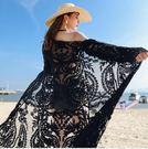 Qmigirl 防曬衣女中長款外搭上衣防曬開衫沙灘披肩罩衫【T1831】