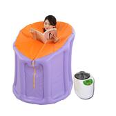 汗蒸箱摺疊桑拿浴箱家用汗蒸房藥材薰蒸桶產婦蒸汽排汗全身滿蒸JD BBJH