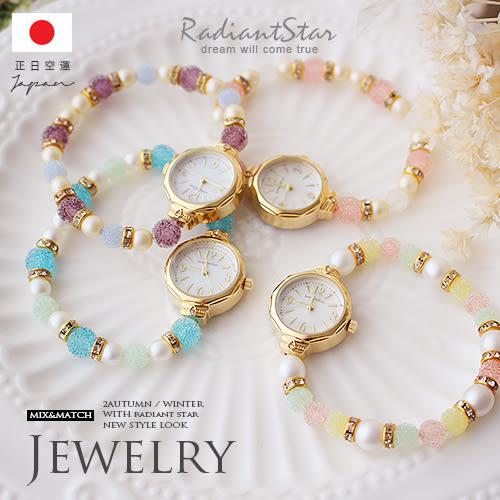 日本直送porte bonheur絢麗瑰寶潘朵拉糖霜珍珠串珠小圓手錶【WWJA00215S-5】璀璨之星☆