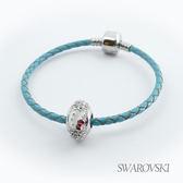 【SWAROVSKI】Hello Kitty施華洛世奇水晶串珠手環-白珠 (單圈)