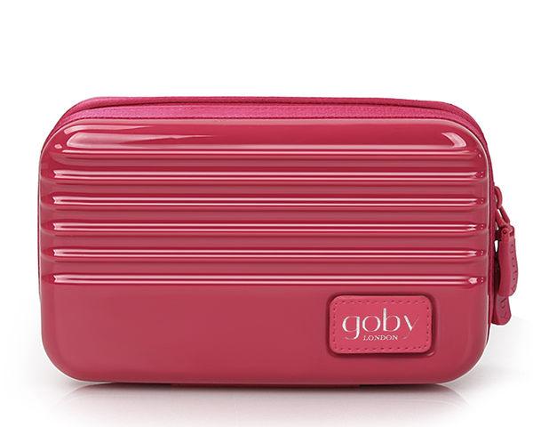 GOBY 果比 Love系列-迷你行李箱旅遊化妝包-硬殼包-L866薔薇紅[禾雅時尚]