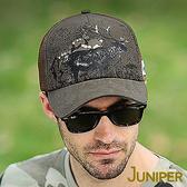 運動帽子-戶外防曬休閒野鹿印刷卡車網洞棒球帽J7544 JUNIPER