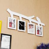 小鳥創意照片墻相框家用掛鐘客廳掛錶裝飾鐘錶臥室個性時鐘超靜音WY「寶貝小鎮」