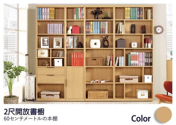 【德泰傢俱工廠】達拉斯2尺開放書櫥/書櫃/置物櫃 家具