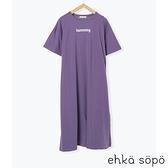 「Hot item」簡約字母打印連身裙 (提醒-SM2僅單一尺寸) - Sm2