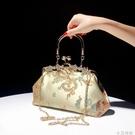 【HCB】手提包中國風刺繡包包宴會古風漢服搭配旗袍繡花包包斜挎 蘿莉新品