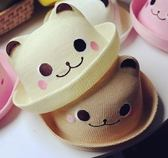 兒童帽子 寶寶草帽春秋6-12個月01-2-4歲兒童盆帽禮帽嬰兒男女童遮陽帽 歐萊爾藝術館