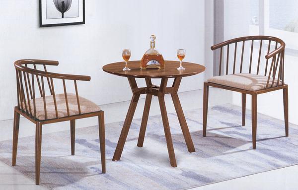 【IS空間美學】特斯拉鐵藝桌椅組 一桌二椅