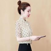 短袖雪紡襯衫女夏裝2020年新款很仙的上衣超仙蕾絲打底衫洋氣夏季 【Ifashion·全店免運】
