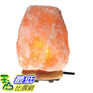 [106美國直購] WBM Himalayan Glow 1001 Hand Carved Natural Salt Lamp with Genuine Neem Wood Base/Bulb and Dimmer Control