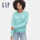 Gap女裝 簡約風格拼接休閒上衣 524447-清水色