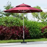 海邊遮陽傘室外折疊戶外大號大型露天裝飾遮陽花園歐式手搖傘  igo 晴光小語