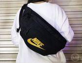 【折後1025】Nike Tech Hip Pack 男女 素面 斜背包 包包 運動 休閒 隨身包 大容量 黑金 BA5751-011