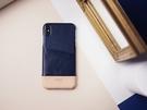 Alto iPhone Xs Max 真皮手機殼背蓋 6.5吋 Metro - 海軍藍/本色 【可加購客製雷雕】皮革保護套