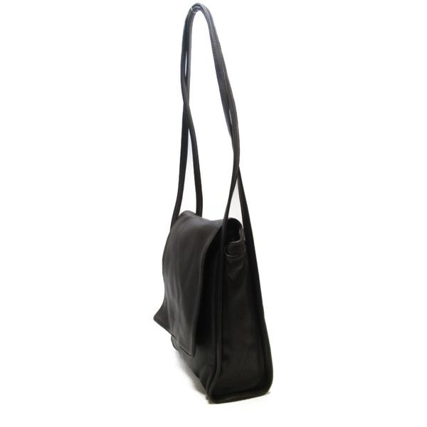 LOEWE 羅威 咖啡色羊皮肩背包 Anagram Flap Shoulder Bag【二手名牌BRAND OFF】