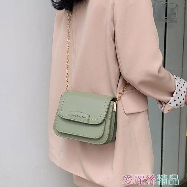 斜背包高級感小包包女2020韓版百搭側背包時尚洋氣斜背錬條小方包 春季上新