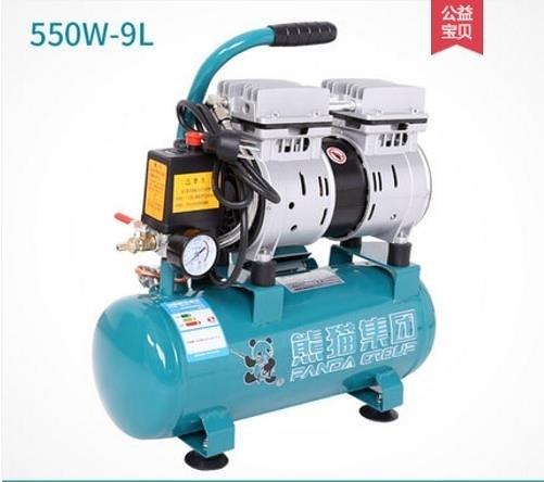 空壓機熊貓無油靜音空壓機高壓沖氣泵木工空噴漆氣壓縮機小型打氣泵220V    汪喵百貨