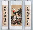 中堂畫-四尺豎幅中堂對聯納福-瑞鶴呈祥松鶴延年 YL-ZTH111