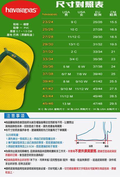 HAVAIANAS 男   拖鞋- HF8M4832BW