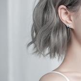 銀致S925銀耳釘簡約女小巧2019新款潮高級感耳環小眾睡覺不用摘的