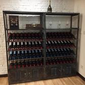 紅酒櫃酒柜展示柜紅酒落地式置物架吧臺現代簡約工業風北歐葡萄酒架鐵藝
