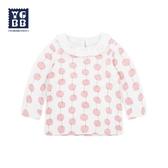 兒童長袖上衣 女童打底衫純棉春秋歲寶寶長袖T恤嬰兒秋衣單件上衣 莎瓦迪卡
