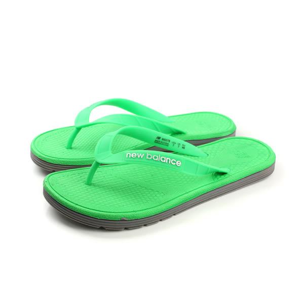 NEW BALANCE 夾腳拖鞋 人字拖 防水 雨天 戶外 好穿 綠色 男鞋 M6076GN-D no263