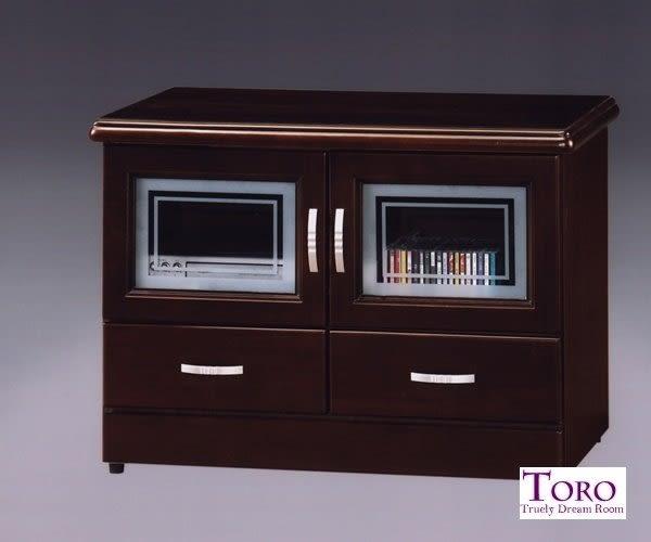 【Toro】半實木3尺電視櫃 (A15胡桃A05柚木)