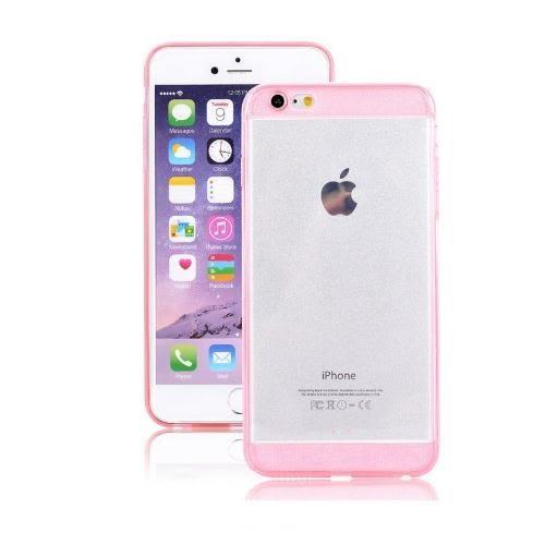 超薄 透明 手機殼 兩端 閃粉 漸變 保護套 簡約 粉嫩 可愛 蘋果 iphone 6 蘋果 6s plus