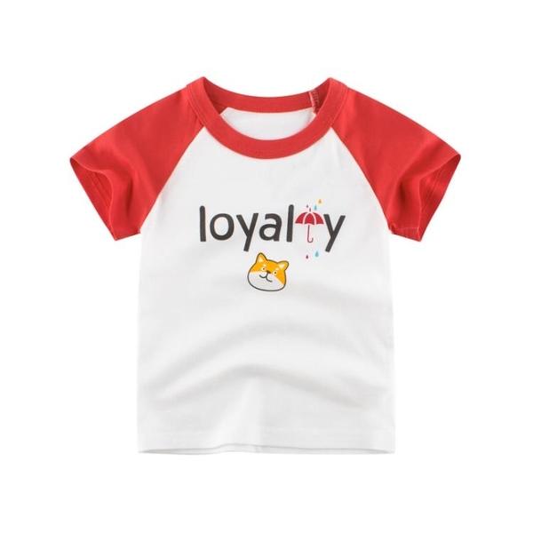 男童短袖T恤夏季純棉洋氣寶寶衣服時尚兒童打底衫半袖 茱莉亞