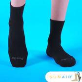 sunair 滅菌除臭襪子- 標準型運動襪1/2筒L(25~29) (黑) /SA1701