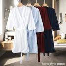 酒店毛巾浴袍五星級男女士長款浴衣美容院睡袍日式和服吸水速干夏 全館新品85折