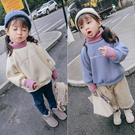 女童上衣 中小童冬季新款舒適百搭加絨加厚...