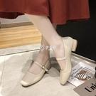 低跟鞋 新款復古奶奶鞋粗跟瑪麗珍女鞋豆豆鞋低跟單鞋配裙子的鞋