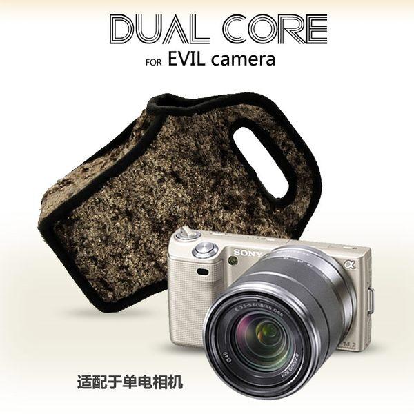 我愛買#DualCore可手提相機包(花狸紋)Sony索尼a6300相機袋a6100相機套a6000攝影包a5100相機袋a3000