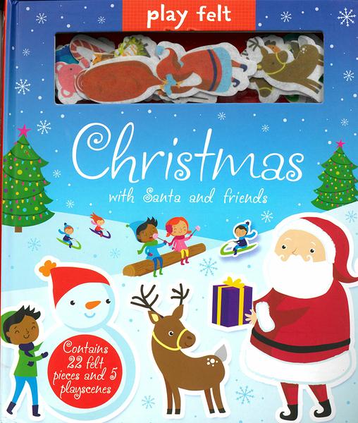 【幼兒聖誕節遊戲書】PLAY FELT:CHRISTMAS WITH SANTA AND FRIENDS/ 不織布黏貼書