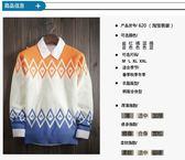 秋冬季韓版男士圓領套頭針織衫青年學生男裝潮流修身線衣外套