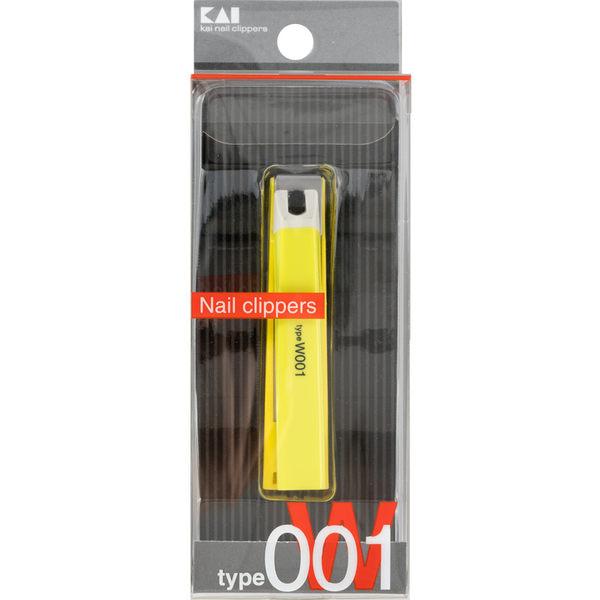 日本貝印平口抗菌指甲刀(黃綠色) KE-0110