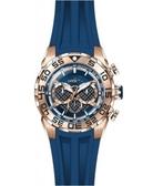瑞士INVICTA手錶-Speedway賽道系列 玫瑰金藍錶盤 三眼腕錶 26305瑞士錶 男士手錶 英威塔男錶