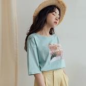 現貨-MIUSTAR 野餐照片膠印棉質上衣(共3色)【NJ0951】