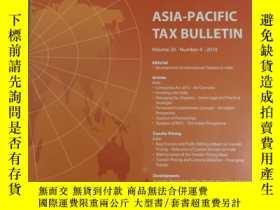 二手書博民逛書店Asia-Pacific罕見Tax BulletinY24494