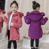 兒童寶寶女童反季衣服童裝冬裝外套中童2018新款棉衣4羽絨棉服8歲