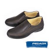 【PEGADA】巴西名品真皮休閒氣墊鞋/紳士鞋  深咖啡(123351-DBR)