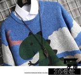 毛衣打底 秋冬裝毛衣男士圓領韓版潮流打底衫線衣針織衫新款學生衣服 快速出貨