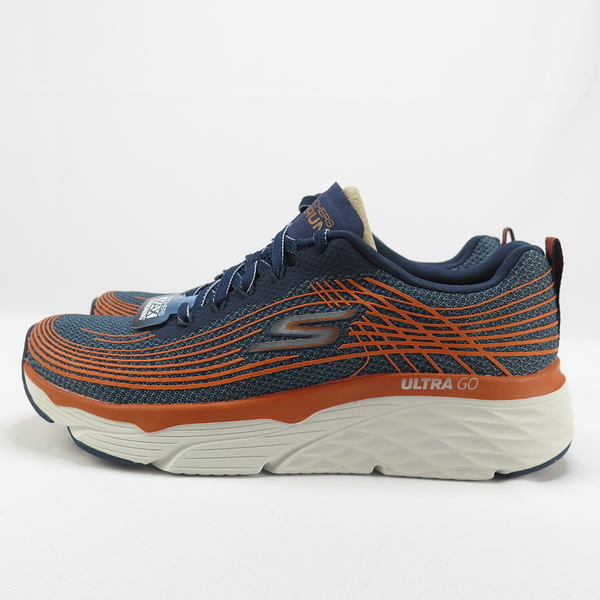 【iSport愛運動】Skechers GO RUN MAX CUSHIONING EL慢跑鞋 54430NVOR男款