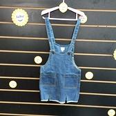 ☆棒棒糖童裝☆(98272)秋冬女童藍色素面牛仔吊帶裙 背心裙 5-17