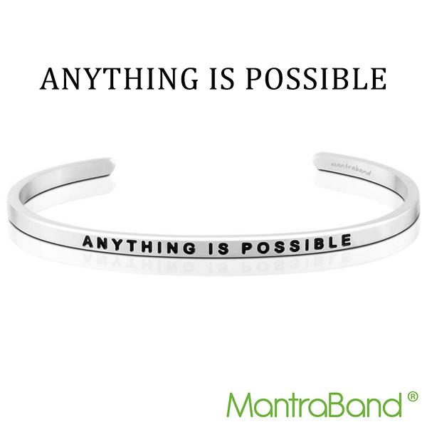Mantraband | ANYTHING IS POSSIBLE 凡事都有可能 - 悄悄話銀色手環 台灣官方總代理