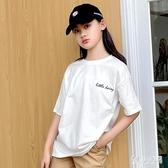 女童小雛菊短袖T恤2020新款兒童洋氣寬鬆棉質上衣中大童夏季薄款9 TR1413『俏美人大尺碼』