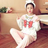 【預購】日本夢幻美少女印花柔軟舒適睡衣兩件套 居家服 睡衣 火星 S95114